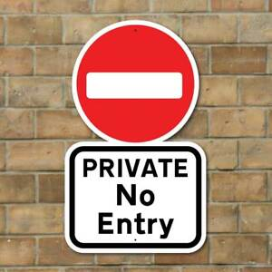 private no entry sign robust private sign keep out sign no access