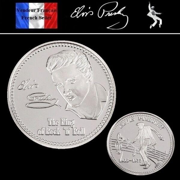 1 Pièce Plaquée Argent ( Silver Plated Coin ) - Elvis Presley ( Ref 2 ) Valeur Formidable