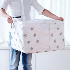 Foldable-Storage-Bags-Clothes-Blanket-Quilt-Closet-Sweater-Organizer-Box-Pouches