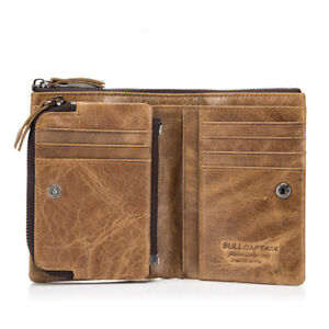 High-Quality-Men-039-s-Genuine-Leather-Cowhide-Wallet-Bifold-Coin-Purse-Card-Holder