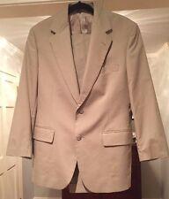 Brooks Brothers Tan Khaki Suit Size 38S  Pants 32 X 27