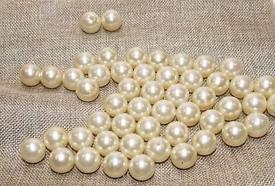 500 Perlen perlmutt weiß NEU Hochzeit Wachsperlen 8mm Perle