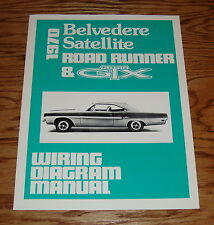 1970 Plymouth Belvedere Satellite Road Runner & GTX Wiring Diagram Manual 70
