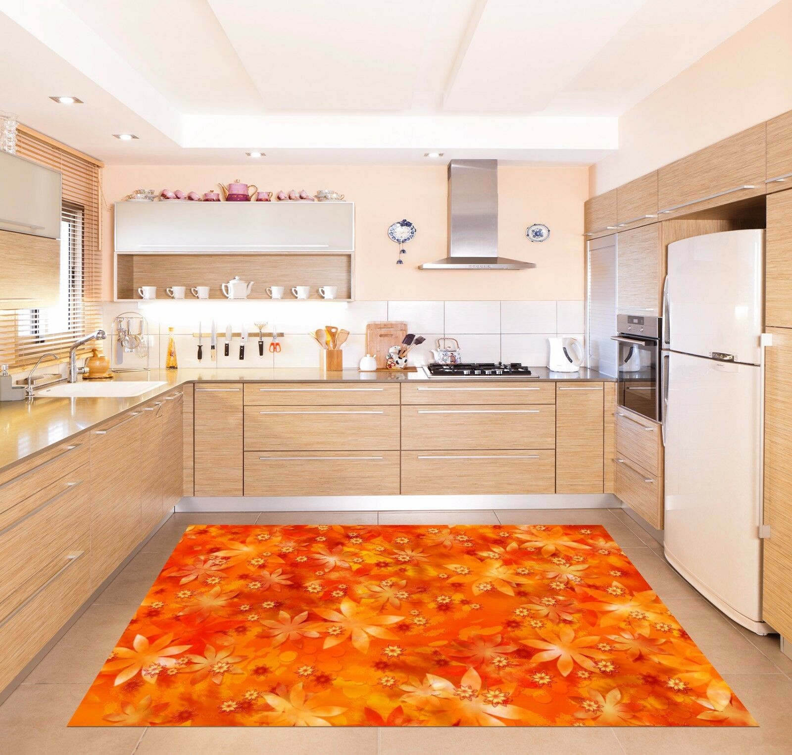 3D Orange Art 113 Kitchen Mat Floor Murals Wall Print Wall Deco AJ WALLPAPER UK