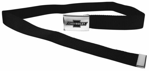 Clamp Web Men Canvas Military Chevrolet Impala Camaro Silverado 1.5 Chrome Black