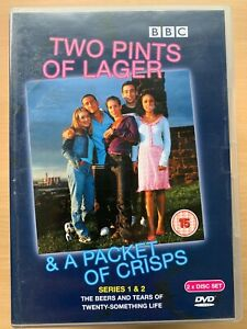 Deux-Pints-de-Lager-amp-A-Emballage-Chips-Serie-1-2-DVD-Coffret-British-TV-Comedie