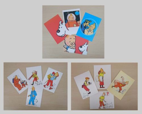 New Collectable Set Of 4 TinTin Different Image Postcards 3 Designs Gift Fun