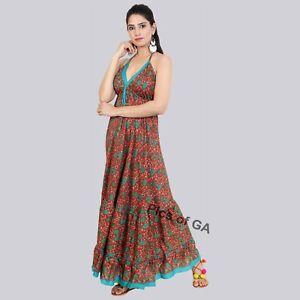 Beautiful-Indian-Satin-Bamboo-Silk-Alice-in-Wonderland-Summer-dress-Maxi-dress