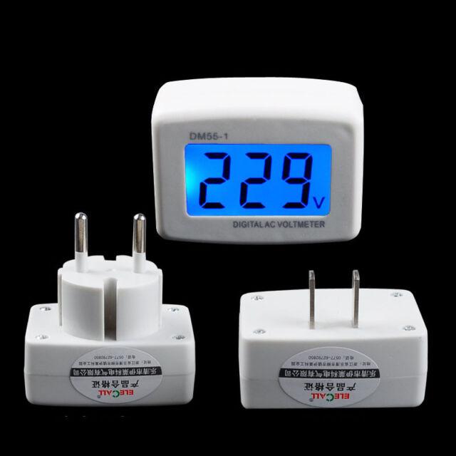 110V/220V Digital AC Voltmeter 80-300V AC Voltage Factory Switch eu Round Plug