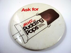 Vintage-Collectible-Pin-Button-JELLO-JELL-O-Pudding-Pops