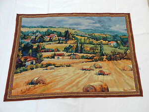 Vintage French Beautiful Scene Tapestry 129x91cm (T552)