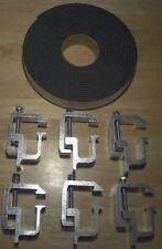 Truck cap topper shell mounting kit clamps heavy duty 6pcs & cap tape TL2002