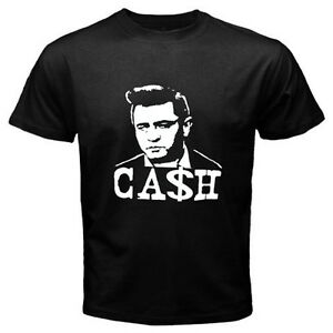 New Johnny Cash Rock n Roll Style Music Long Sleeve Black T-Shirt Size S-3XL