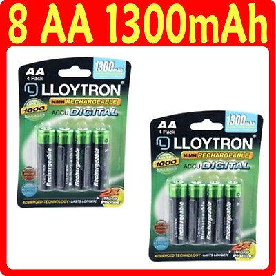 12  LLOYTRON AA 800 mAh Rechargeable Batteries 3 x 4pk