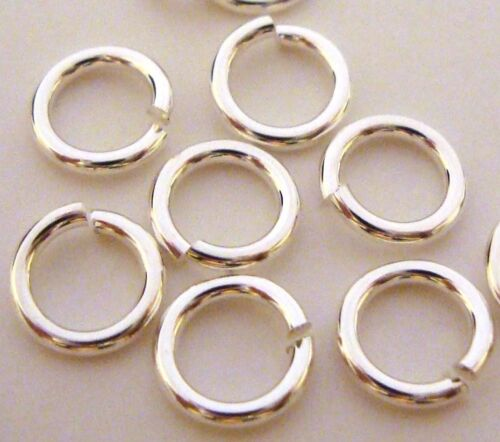 50pcs 6mm solid bright 925 Sterling SILVER open Round wire Jump Rings R56