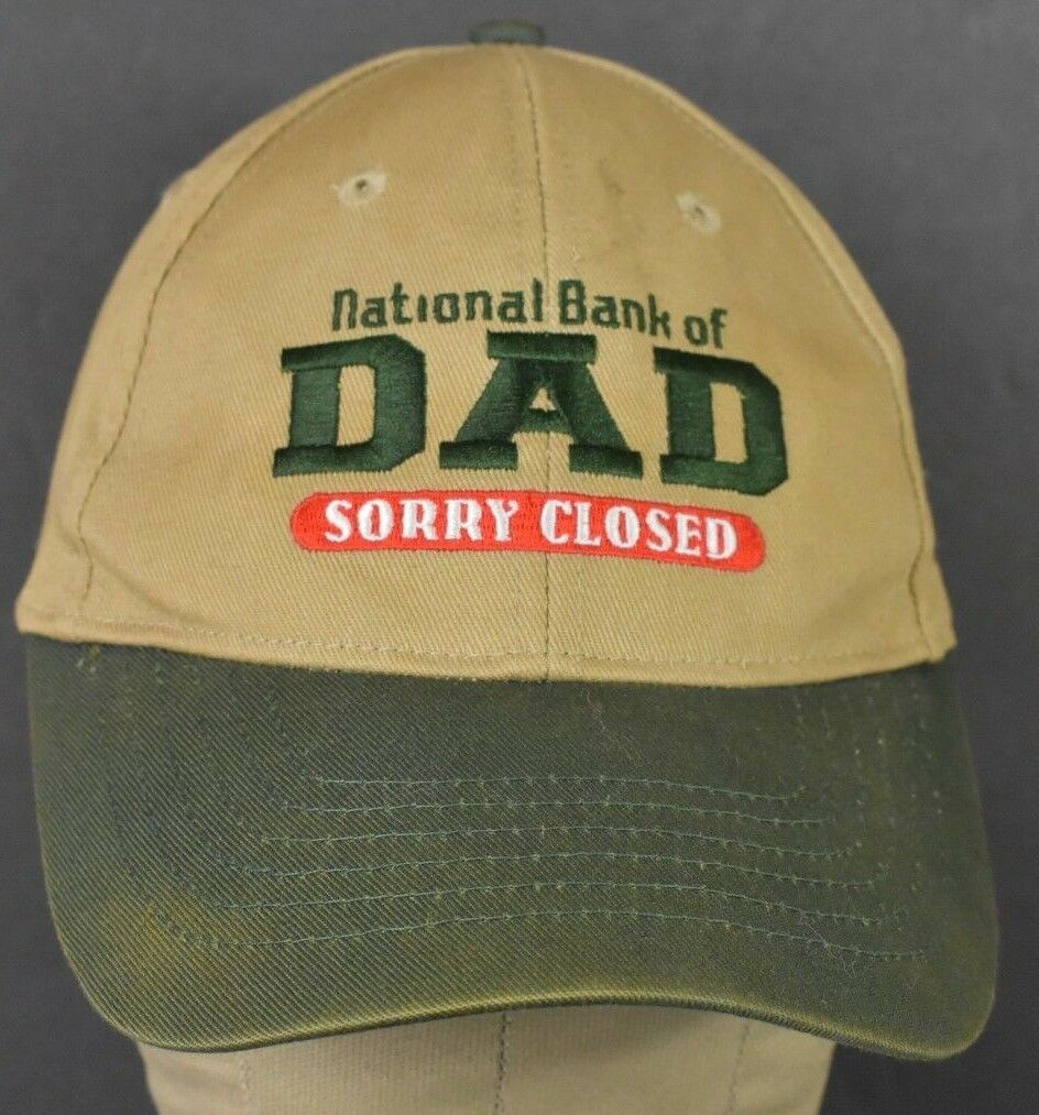 Beige National Bank Hat Of Dad Sorry Closed Embroidered Baseball Hat Bank Cap Adjustable d1c5b5
