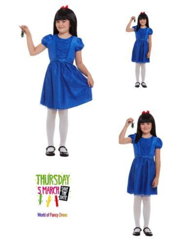 Girl Roald Dahl Matilda Fancy Dress Costume Robe Perruque /& Newt World Book Day Fun