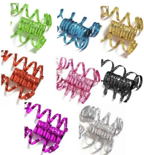 10 THROWS EACH THROW IS 6.5FT LONG CHOICE OF COLOURS METALLIC PARTY STREAMERS
