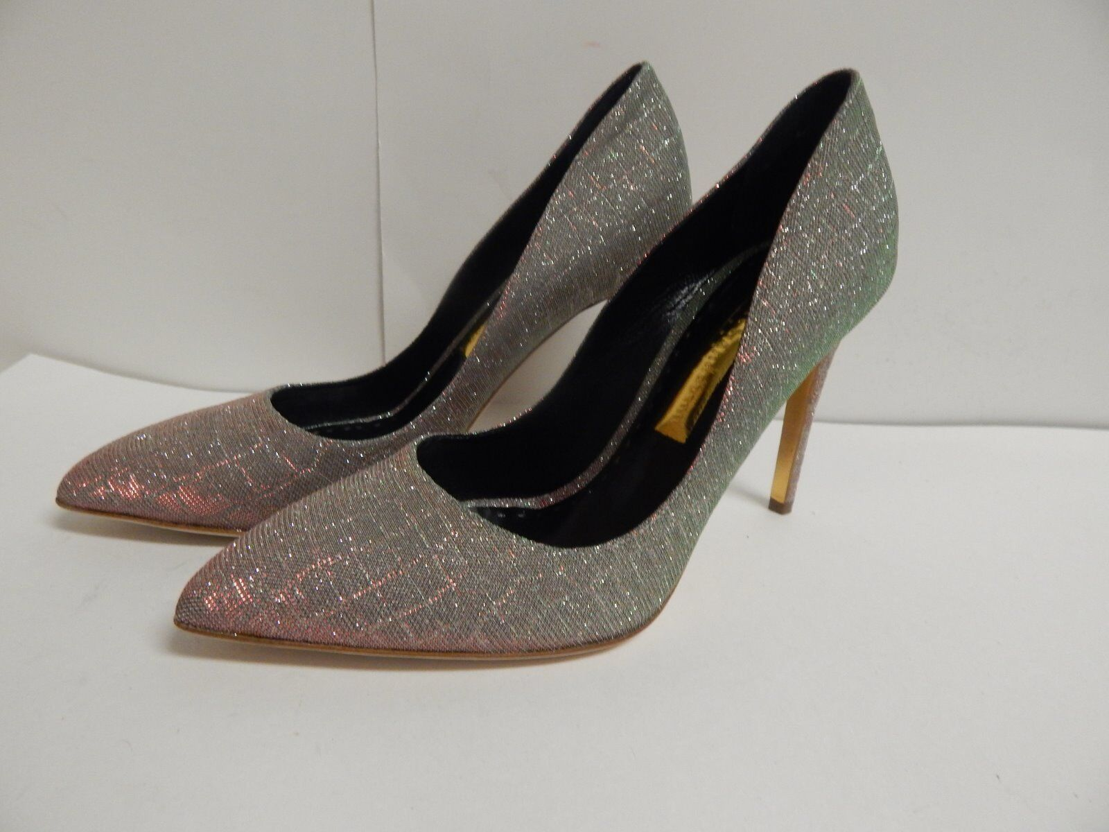 Rupert Sanderson Malory Pointed Toe High Heel Pumps 37.5 US 7.5 M  New W out Box