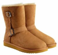 Kirkland Signature Shearling Buckle Boot Womens Size 6 Wide.