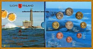 Finlande Coffret BU 2006 - 9 monnaies dont 2 € Cc 2005 - Phare de Bengtskar