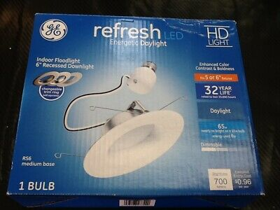 Fits Housing Diameter:5-in or 6-in GE 1-Pack Refresh 65-Watt Equivalent White Dimmable LED Recessed Retrofit Downlight