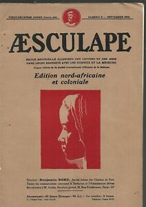 Aesculape-Edition-north-african-and-colonial-No-9-September-1932-REF-E36