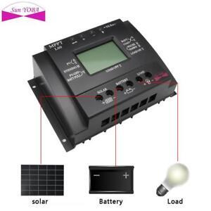 LCD-60A-MPPT-Solar-Panel-Batterieregler-Laderegler-12-24V-Schwarz-PW