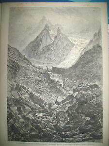 ALPES-DAUPHINe-LE-PELVOUX-CHUTE-GY-VALLOUISE-EGYPTE-CHAN-EL-NESIM-GRAVURES-1872