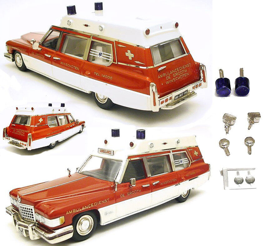 VF Cadillac Superior Ambulance De Grooth '76 n Elegance Motor City Brooklin 1 43
