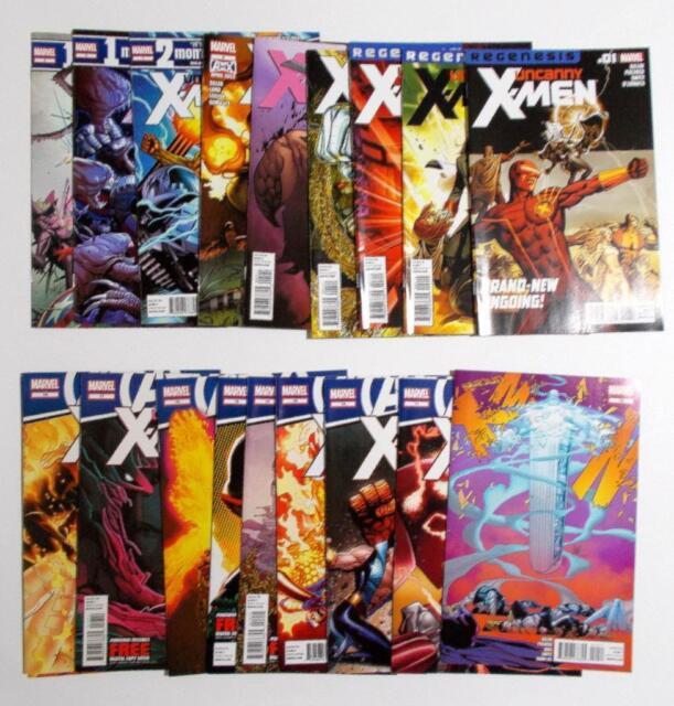Uncanny X-men Vol 2 Comic Run Lot Issues 1-19 Marvel 2012