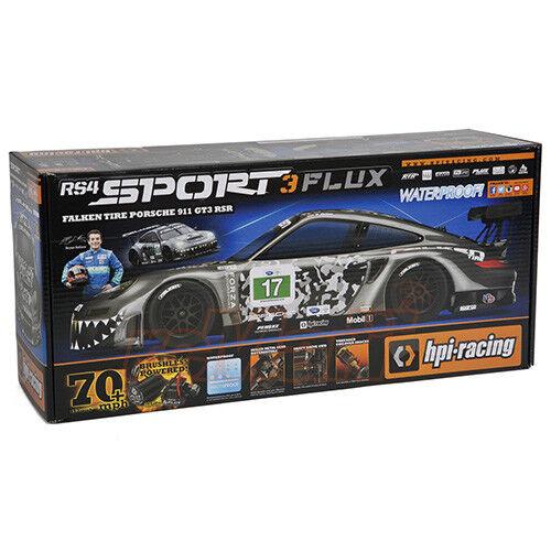 HPI Racing RS4 Sport 3 Flux RTR Falken Porsche 911 GT3 RSR Body Radio  114350