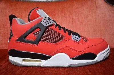 low priced bd7bb a0f5f Nike Air Jordan Retro IV 4 Toro Bravo Red Black 308497 603 Size 12 Raging  Bull V 887225129804 | eBay