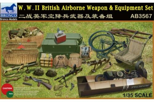 BRONCO AB3567 1//35W.W.II British Airborne Weapon /& Equipment Set