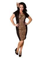Rockabilly Wiggle Dress,flattering Leopard Print 50s Reproduction Dress-xs-l