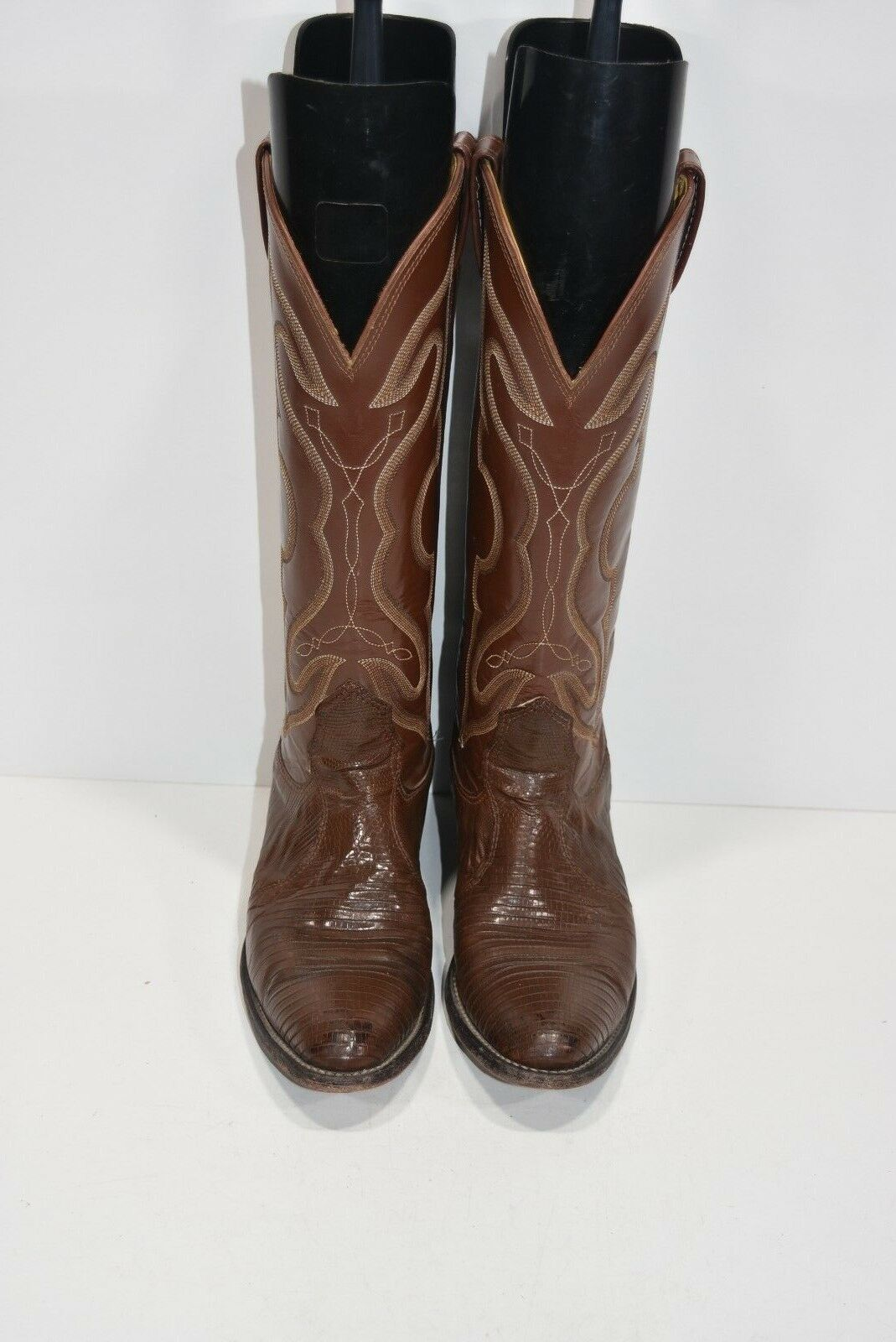 NOCONA Damenschuhe Damenschuhe Damenschuhe 5.5 A TEJU LIZARD BROWN LEATHER CLASSIC COWBOY Stiefel ROPERS 0aaede