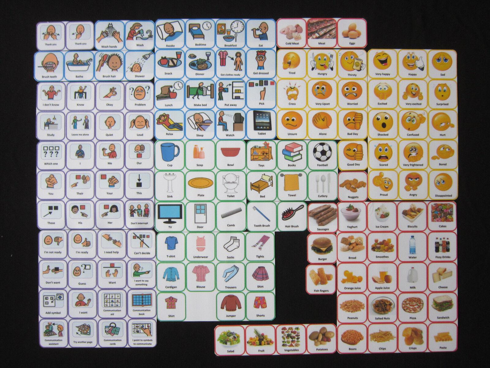 Starter Pack Cards -  Autism ADHD Visual Communication Aids PECS SEN Dementia