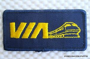 VIA-CANADIAN-PASSENGER-RAILROAD-SEW-ON-PATCH-UNIFORM-ADVERTISING-3-1-4-034-x-1-1-2-034