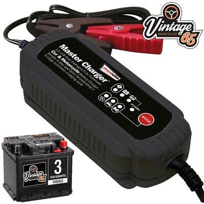 Auto D'epoca E Moto Automatico 12v 3.8amp Intelligente Batteria Caricatore