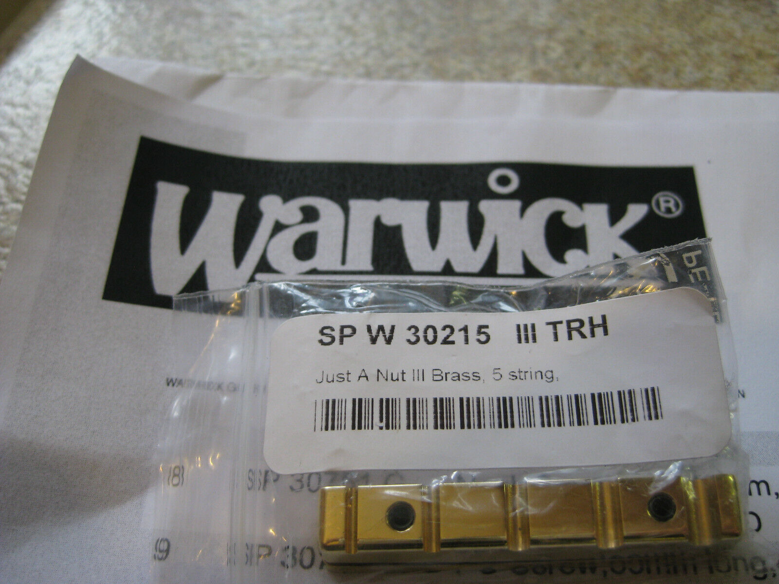 New Warwick Brass Just A Nut III 5 String Bass 45.0MM, Right Handed, Std Spacing