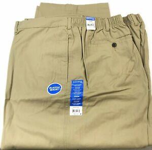 NWT-Men-039-s-George-Flat-Front-Elastic-waist-dress-pant-Size-52-X-30-L09-4