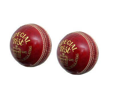 RED Hand-sewn Genuine Leather GARRISON Cricket Ball Pack Of 6 Fast Shipping