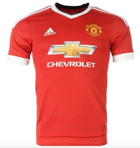 Adidas Manchester United Maglia Home 2015 2016 Chevrolet red tutte le taglie