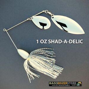 Bassdozer-spinnerbaits-TROPHY-BASS-1-oz-N-SHAD-A-DELIC-spinner-bait-baits