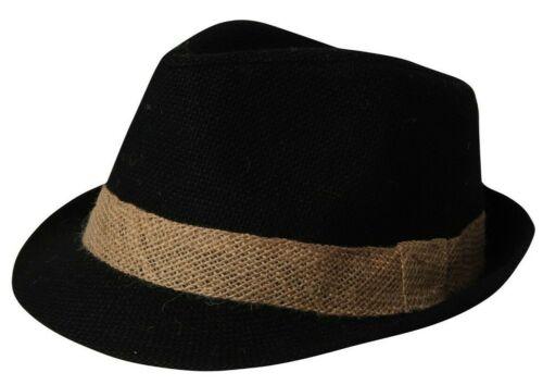 Sombrero de Paja Borsalino Hombre Mujer Papel Yute Ligero Color Rosa Azul Negro