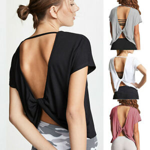Women-Sports-Yoga-Shirt-Vest-Workout-Fitness-Running-Stretch-Crop-Tank-Tops-Gym
