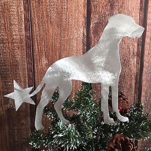 Rottweiler with Star Dog Lover gift Christmas Natural Ears Dog Tree Topper