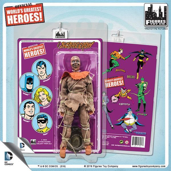Worlds Greatest Rétro Scarecrow 8  Action Figure sur Rétro Style Carte retraité