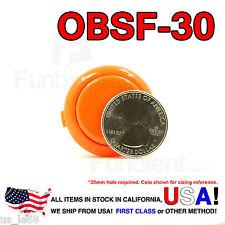 Sanwa Denshi Original OBSF-30 Orange Push Button JAMMA guitar killswitch 30mm