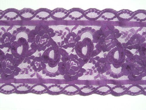 3 m violet en dentelle 14 cms Large Double Edge Polyester Inhabituel Couleur